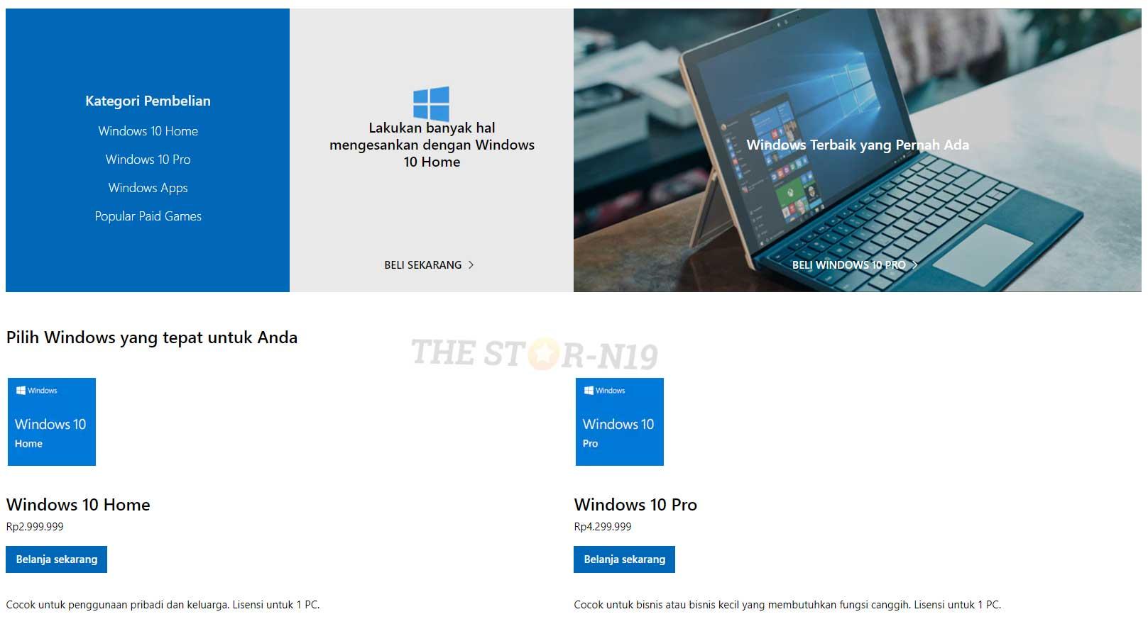 Harga Lisensi Windows 10 Resmi